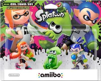 Inkling Girl / Squid [Green] / Boy 3 Pack [Splatoon Series] Cover Art