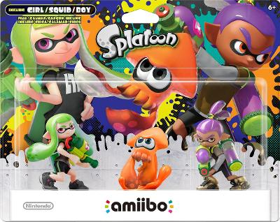 Inkling Girl / Squid [Orange] / Boy 3 Pack [Splatoon Series] Cover Art
