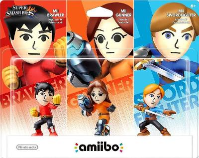 Mii Brawler, Gunner, & Swordfighter 3 Pack [Super Smash Bros. Series] Cover Art