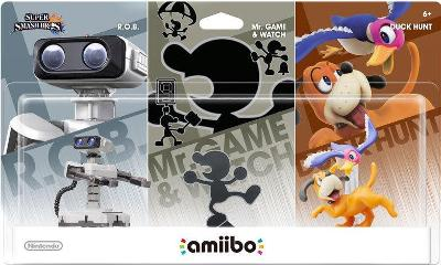 R.O.B., Duck Hunt, Game & Watch 3 Pack [Super Smash Bros. Series] Cover Art