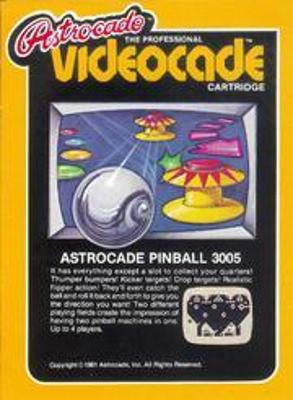 Astrocade Pinball Cover Art