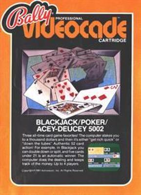 Blackjack / Poker / Acey-Deucey Cover Art