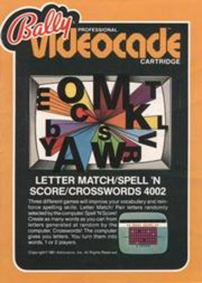 Letter Match / Spell 'n Score / Crosswords Cover Art