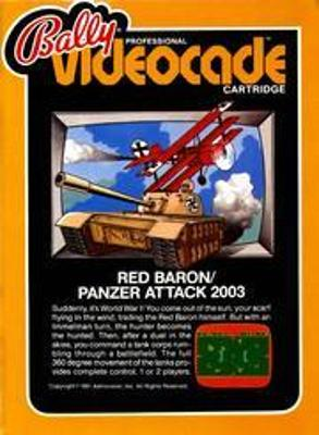 Panzer Attack / Red Baron Cover Art