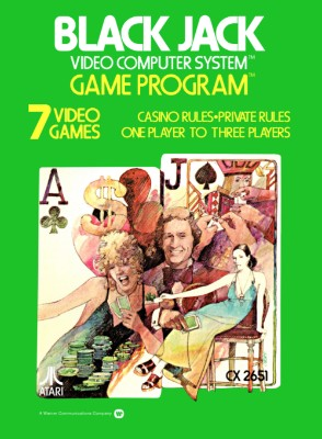 Blackjack [Atari] [Picture Label]