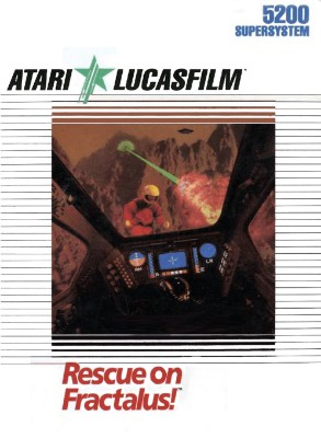 Rescue on Fractalus! Cover Art