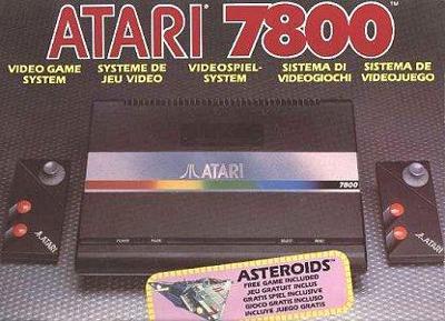 Atari 7800 Console Cover Art