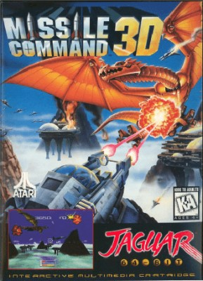 Missile Command 3D Cover Art