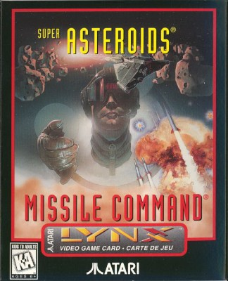 Super Asteroids / Missile Command Cover Art