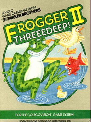 Frogger II: Threeedeep! Cover Art