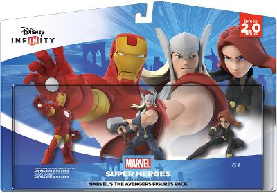 Marvel's The Avengers Figures Pack [Iron Man, Thor, and Black Widow] Cover Art