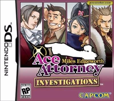 Ace Attorney Investigations: Miles Edgeworth Cover Art