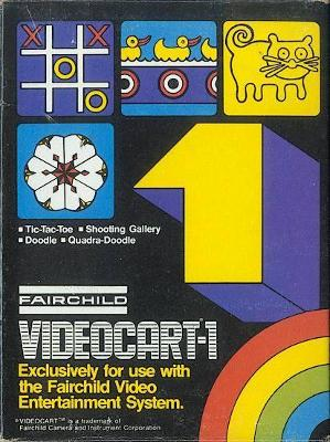 Tic-Tac-Toe / Shooting Gallery / Doodle / Quadroodle [Text Label] Cover Art
