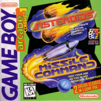 Arcade Classics #1: Asteroids, Missile Command Cover Art