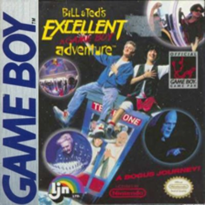 Bill & Ted's Excellent Game Boy Adventure Cover Art