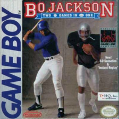 Bo Jackson's Hit and Run! Baseball and Football Cover Art