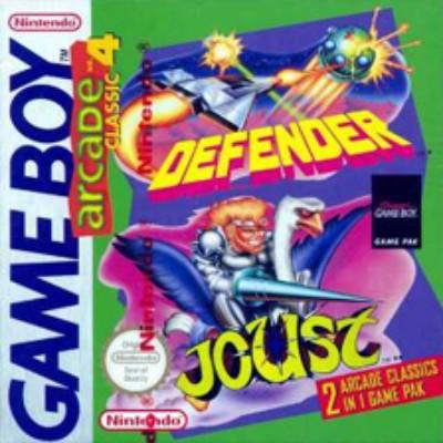 Arcade Classics #4: Defender, Joust Cover Art