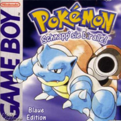 Pokemon Blue Version Cover Art