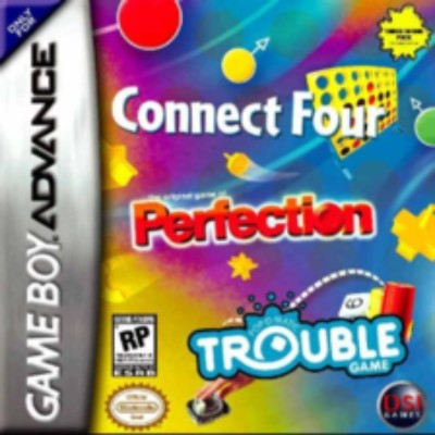 Connect Four & Perfection & Trouble Cover Art