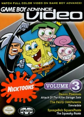 GBA Video: Nicktoons Collection Volume 3 Cover Art