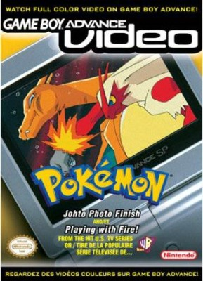 GBA Video: Pokemon: Johto Photo Finish & Playing with Fire Cover Art