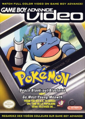 GBA Video: Pokemon: Beach Blank-Out Blastoise and Go West Young Meowth Cover Art