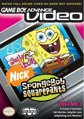 GBA Video: SpongeBob Square Pants Volume 1 Cover Art