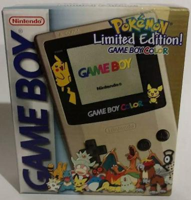 Game Boy Color [Pokemon Limited Edition] [Gold] Cover Art