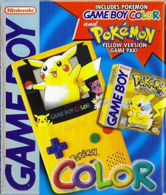 Game Boy Color [Pokemon Edition] [Yellow] Cover Art