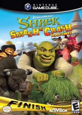 Shrek Smash n' Crash Racing Cover Art