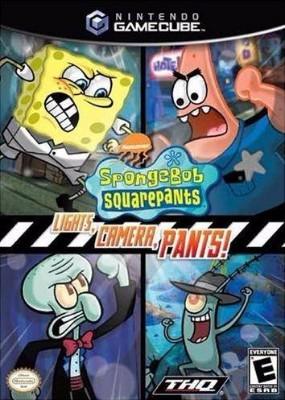 SpongeBob SquarePants: Lights, Camera, Pants! Cover Art
