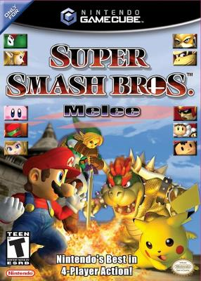 box cover art for Super Smash Bros. Melee