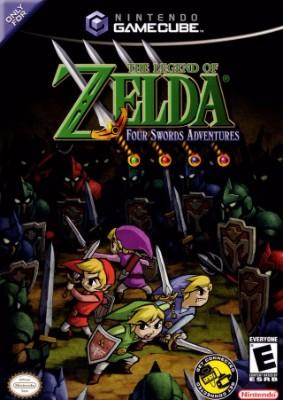 Legend of Zelda: Four Swords Adventures [Big Box] Cover Art