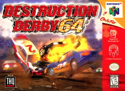 Destruction Derby 64 Cover Art