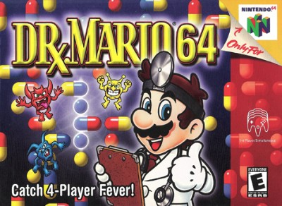 Dr. Mario 64 Cover Art