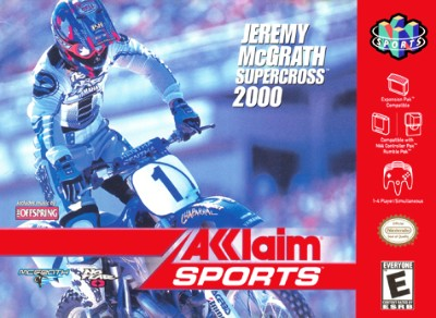 Jeremy McGrath Supercross 2000 Cover Art