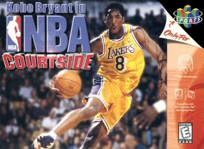 Kobe Bryant in NBA Courtside Cover Art