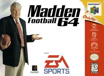 Madden Football 64 Cover Art
