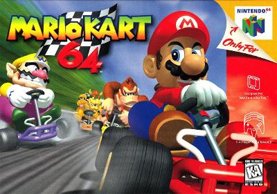 Mario Kart 64 Cover Art