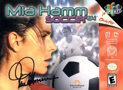 Mia Hamm Soccer 64 Cover Art