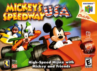 Mickey's Speedway USA Cover Art