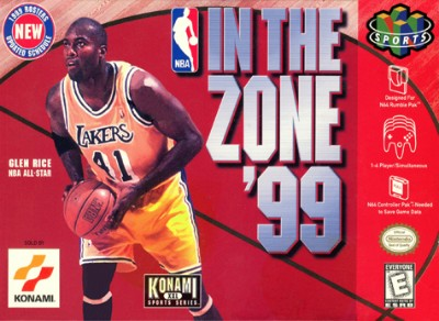 NBA In The Zone 99 Cover Art