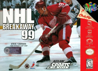 NHL Breakaway 99 Cover Art