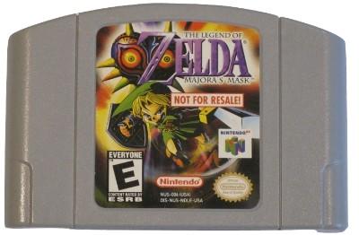 Legend of Zelda: Majora's Mask [Not For Resale][Grey] Cover Art