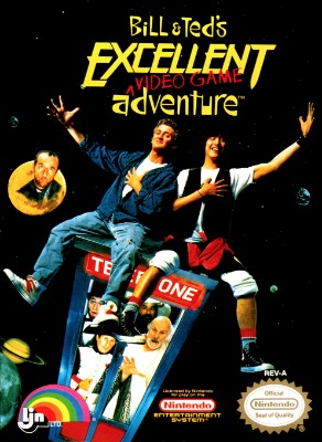 Bill & Ted's Excellent Video Game Adventure Cover Art