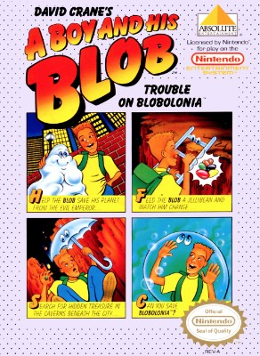 A Boy and His Blob: Trouble on Blobolonia, David Crane's  Cover Art