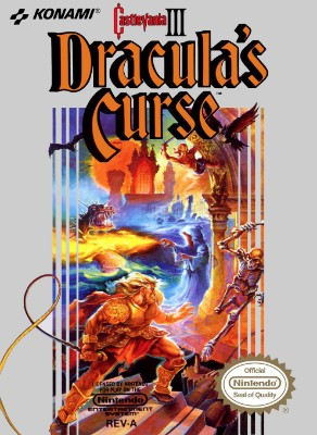 Castlevania III: Dracula's Curse Cover Art