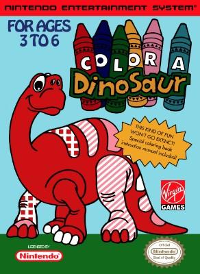 Color a Dinosaur Cover Art