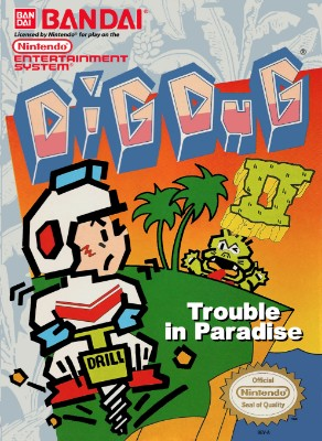 Dig Dug II: Trouble in Paradise Cover Art