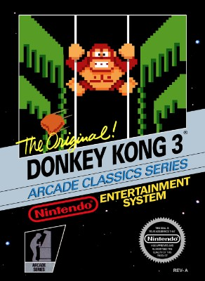 Donkey Kong 3 [5 Screw] Cover Art